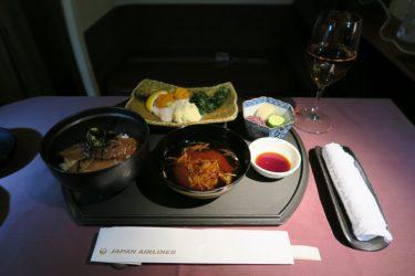 JALファーストクラス45便 羽田→パリ 睡眠の後にフミコの和食を(アムステルダム旅行2016 その6)