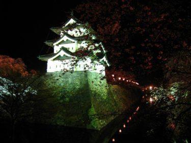 弘前公園さくらまつり その1 弘前城の夜桜 [旅行 青森県]