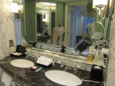 ウォルドーフ・アストリア上海オン・ザ・バンド ホテル宿泊記その2 バスルーム(2015-16年末年始 上海特典旅行 その9)