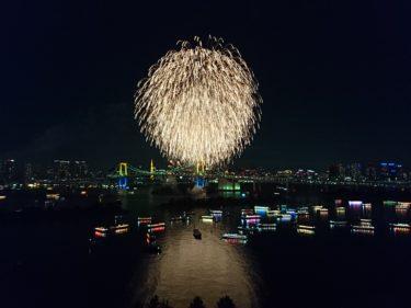 ヒルトン東京お台場 スーペリアデラックスルーム その2 お台場レインボー花火2016