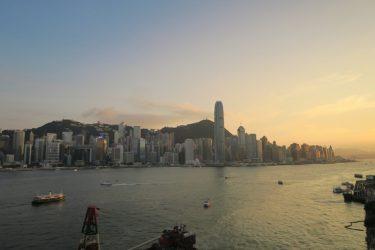 ビクトリアハーバーの夕景 インターコンチネンタル香港(香港週末旅行2017夏その7)