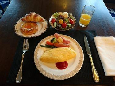 クラブラウンジでふわふわオムレツの朝食 インターコンチネンタル横浜
