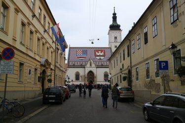 ザグレブ 聖マルコ教会と衛兵の行進(クロアチア旅行2017)