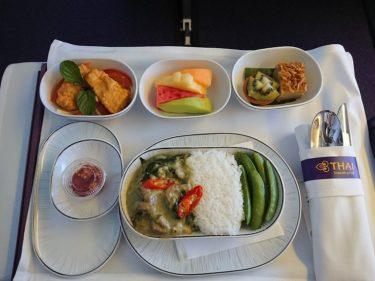 タイ航空ビジネスクラス機内食 台北>仁川  (台北週末1泊旅行2018)