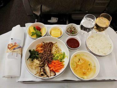 ビビンバの機内食 アシアナ航空ビジネスクラス 仁川⇒成田 (台北週末1泊旅行2018)