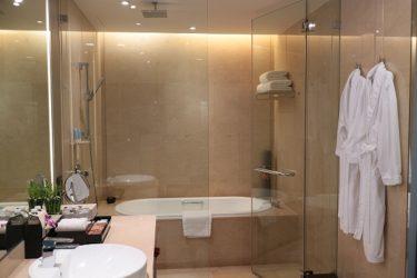 オークラプレステージバンコク プレミアクラブルーム宿泊記2 バスルーム(週末3連休バンコク 2018年2月)