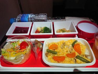 JAL41便 羽田>ロンドンヒースロー エコノミークラスの機内食(アイスランド旅行2018 その2)