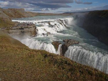 グドルフォス アイスランドで一番有名な「黄金」の滝(アイスランド旅行2018 その11)