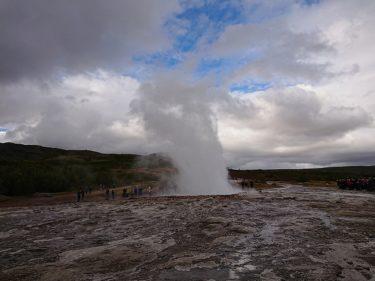 間欠泉ゲイシール Geysir [ゴールデンサークル](アイスランド旅行2018 その13)