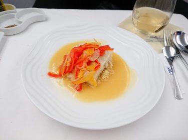 ANAビジネスクラス 成田>シンガポール 銀座ESqUISSEプロデュースの機内食