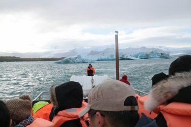 ヨークルスアゥルロゥン氷河湖の水陸両用車ツアー(アイスランド旅行2018 その21)