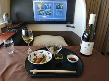 JALファーストクラス搭乗記 ロンドン行きミシュラン3つ星機内食 神楽坂「石かわ」「虎白」(イスラエル・パレスチナ旅行2019 その3)