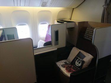 JAL37便 シンガポール行きビジネスクラス搭乗記&機内食(週末シンガポール旅行2019春)