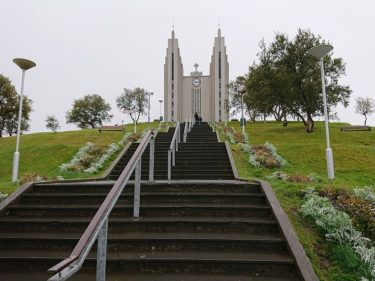 アークレイリ教会を見学して出発(アイスランド旅行2018 その38)