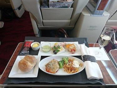 JAL国内線ファーストクラス 310便 福岡>羽田(2017年6月)
