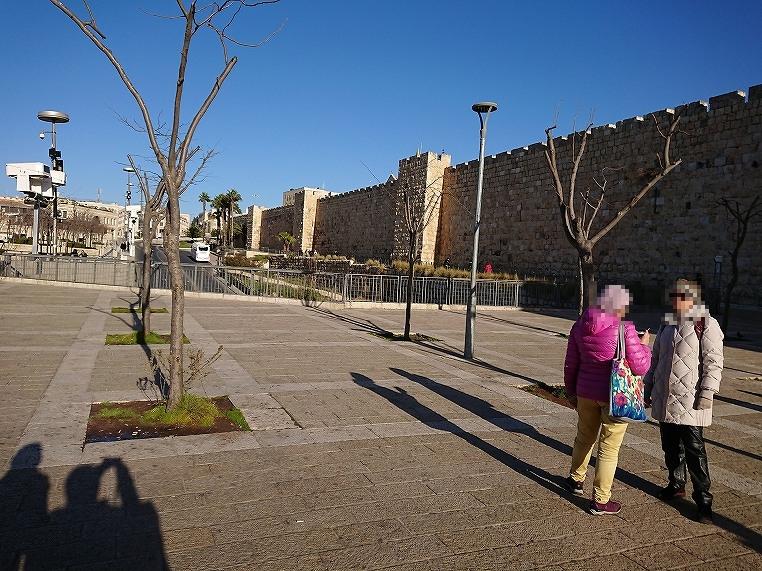 ヤッファ門付近の城壁