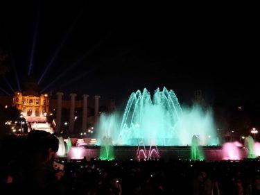 カタルーニャ美術館前のマジカ噴水ショー(バルセロナ旅行2018 その18)