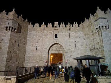 """エルサレムのアラブ料理「Al-A'yed」でバーベキューの夕食&夜の散歩(イスラエル・パレスチナ旅行2019 その20)"""""""