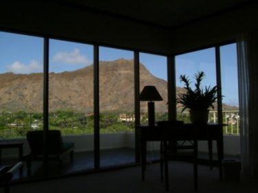 Wホテル ホノルル ダイアモンドヘッド(現 アクアロータスホノルル)ペントハウススイート宿泊記その1 リビング [ハワイ 2003年]