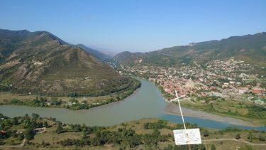 古都ムツヘタのジワリ修道院と丘からの絶景(ジョージア・アゼルバイジャン旅行2019 その24)