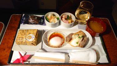 JAL国内線ファーストクラス  「Restaurant Sola 博多」の機内食 新千歳>羽田