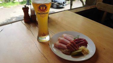 遠刈田温泉のレストランベルツでドイツビールとソーセージ(宮城・山形旅行2019春 その1)
