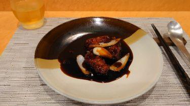 神楽坂 エンジンのランチ、黒酢の酢豚と冷麺