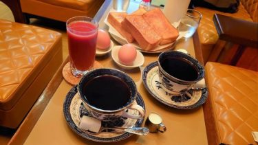 京都の喫茶店「六曜社 珈琲店」のモーニングサービス
