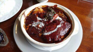 【福島 西郷村】洋食モンシェリーのビーフシチューハンバーグ(煮込みハンバーグ)
